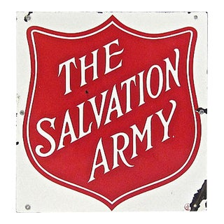 Porcelain Salvation Army Sign
