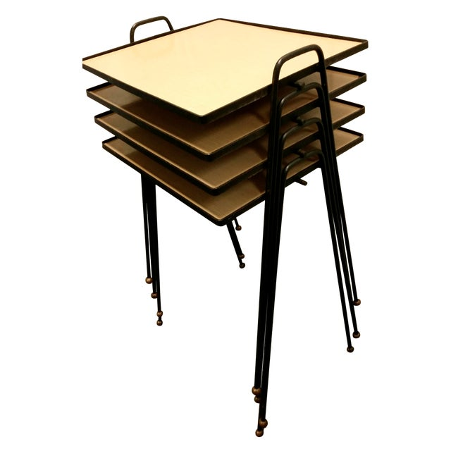 Mid century stacking tv tables set of chairish