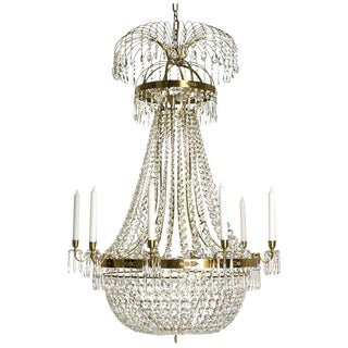 Empire 10 Arm Cognac Octagon Chandelier