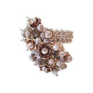 Memory Wire Rosebud Bracelet