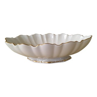 Lenox Ivory Gold Scalloped Symphony Oval Serving
