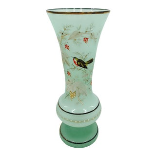 Antique Hand Painted Bristol Vase
