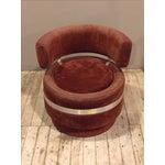 Image of Antique Art Deco Velvet Chair