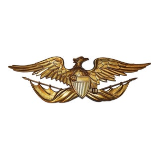Gold Cast Metal Eagle Wall Mount