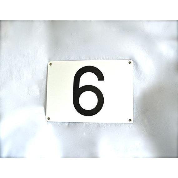 Image of Number 6 or 9 Vintage Porcelain Enamel Sign