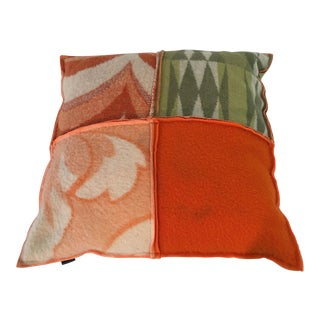 Recycled Blankets Patchwork Pillow