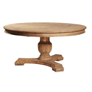 Carved Round Dining Table