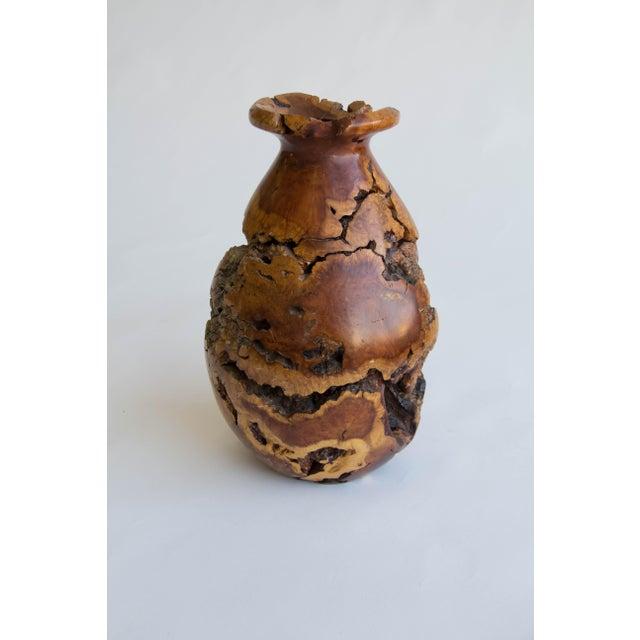 Turned Burl Wood Vase - Image 5 of 10