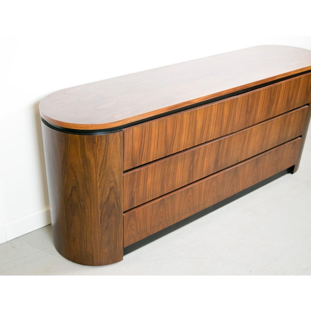 Image of Mid-Century Modern Rosewood & Walnut Credenza