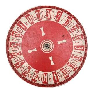 Vintage Hand Painted Game Wheel