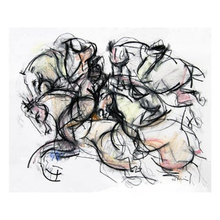 Polo Player #2 Abstract Drawing
