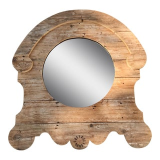 Framed Rustic Wood Mirror