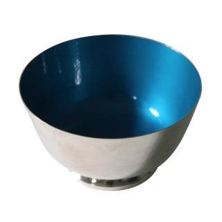 Reed & Barton Silver & Blue Enamel Bowl