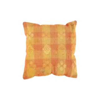 Vintage Orange Turkish Kilim Pillow