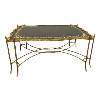 Vintage Italian Coffee Table With Floral Banding