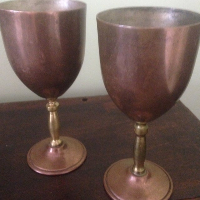 Copper & Brass Goblets - a Pair - Image 4 of 11