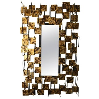 Hand-Made Sculptural Mirror by Del Williams