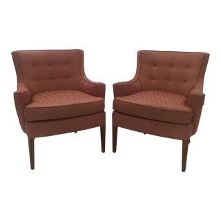 Italian Mid-Century Curved Arm Chairs - A Pair
