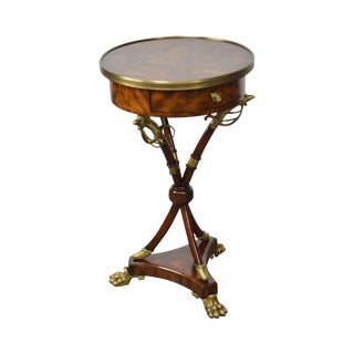 Theodore Alexander Regency Style Mahogany Admiralty Occasional Table