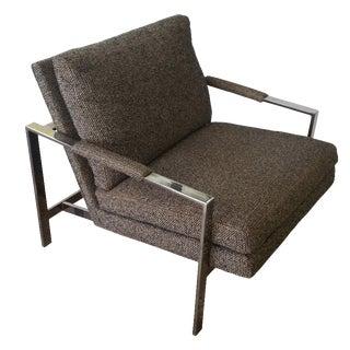 Mid-Century Gunmetal Chair by Milo Baughman