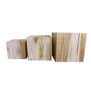Square Teak Nesting Boxes - Set of 3