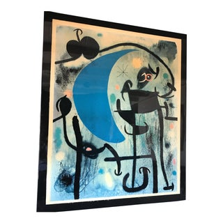 Joan Miro 1980's Lacquer Mounted Italian Poster