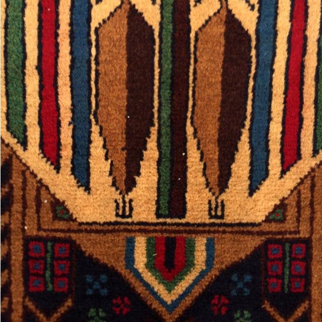 "Vintage Handmade Persian Baluchi Rug - 2'10""x4'7"" - Image 6 of 10"