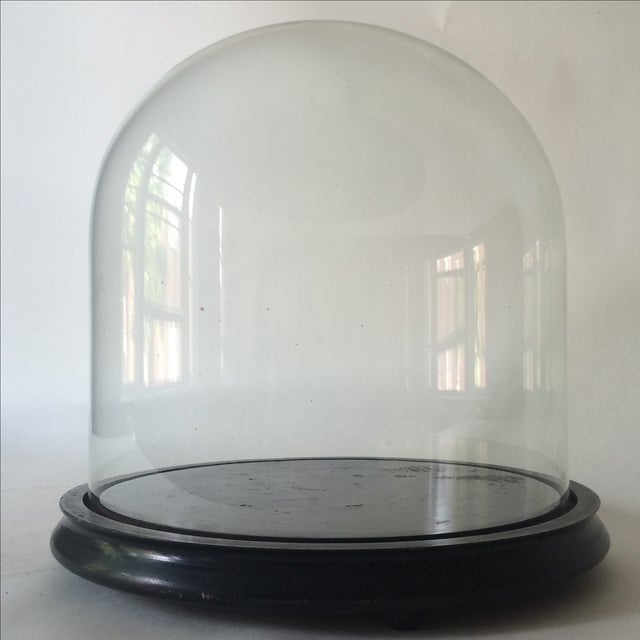 Victorian Cloche Dome with Stand - Image 2 of 8