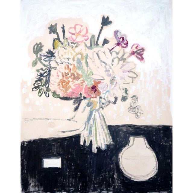 Image of Anne-Louise Ewen Bouquet In Hand Left Oil Painting