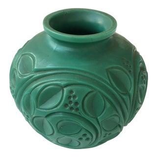 Emerald Green Ornate Bakelite Vase