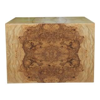 Burlwood Milo Baughman Pedestal/ Coffee Table