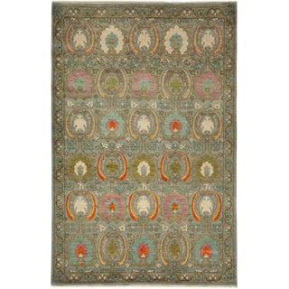 """Suzani Hand Knotted Area Rug - 6'1"""" X 9'1"""""""