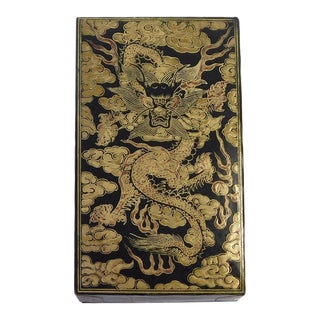Chinese Box With Golden Dragon Graphic