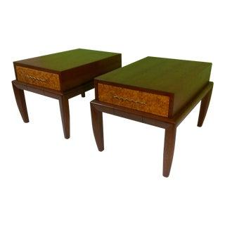 Brown & Salman End Tables - A Pair