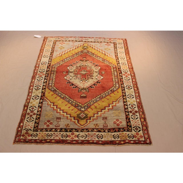 Vintage Turkish Woven Rug - 3'2'' x 4'7'' - Image 5 of 7