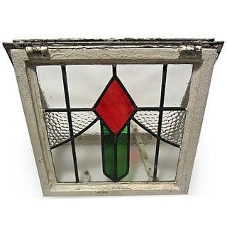 English Cottage Stained Glass Window
