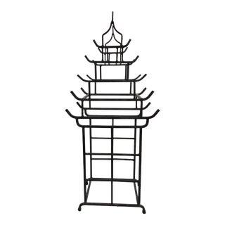 Iron Pagoda Form Wine Bottle Holder