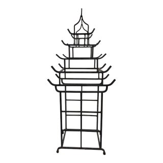 Iron Pagoda Form Wine Bottle Holder