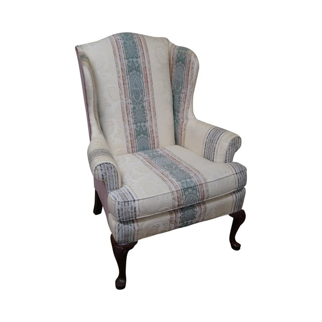 Highland House Hickory Queen Anne Wing Chair - Image 1 of 10