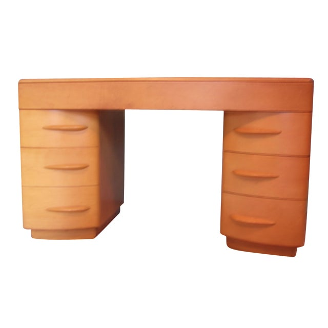 Heywood Wakefield Keyhole Desk & Chair - Image 1 of 11