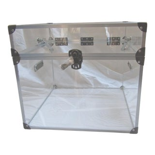 Square Lucite Box with Locking Top & Soft Close Hinges