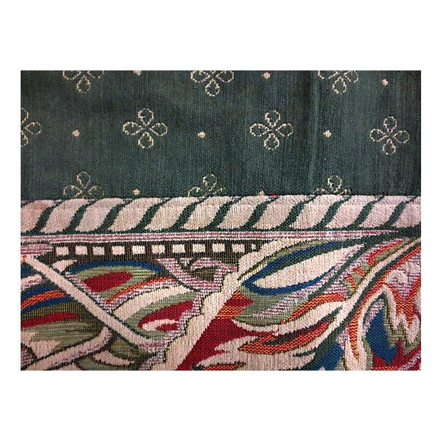 "Vintage Woven Green & Red Tapestry Rug - 3'3"" x 2' - Image 3 of 4"
