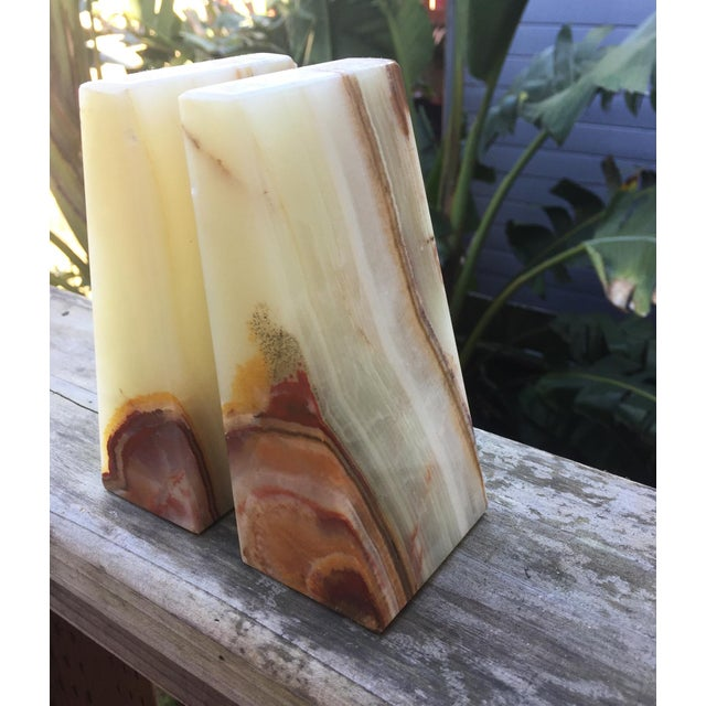 Modern Onyx Bookends - A Pair - Image 5 of 7