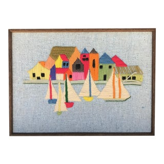 1970s Nautical Crewelwork Art