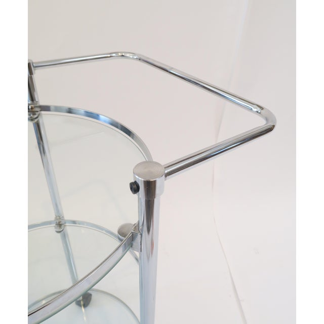 Glass & Chrome Bar Cart - Image 5 of 7