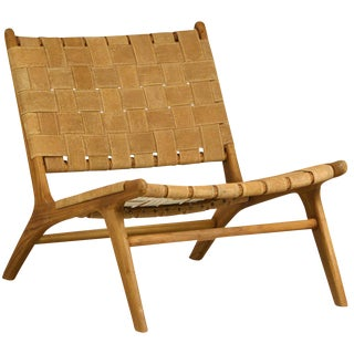Woven Fabric Lounge Chair