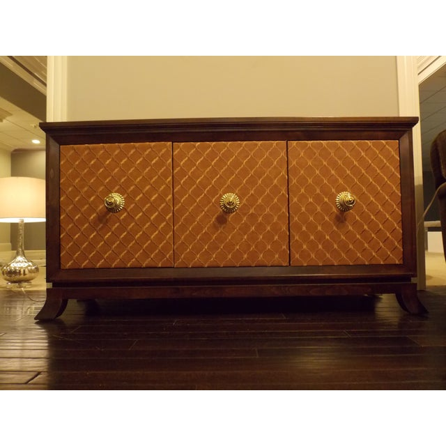 Mid-Century Styles Fabric Panel Buffet - Image 2 of 8