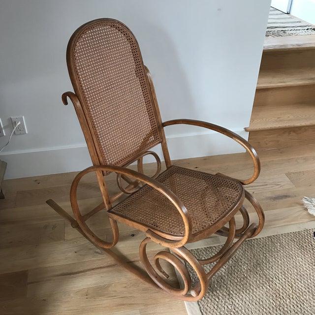 Spanish Bentwood Rocking Chair Rocker - Image 2 of 10