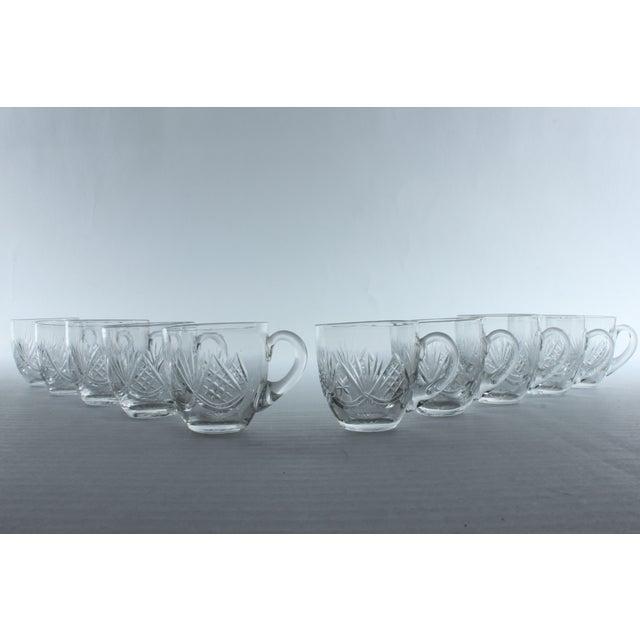 Fan Pattern Glass Espresso Mugs - Set of 10 - Image 2 of 3