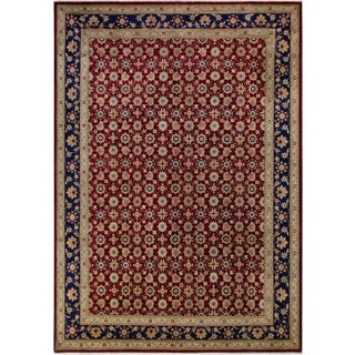 Kafkaz Peshawar Mercedes Red/Dark Blue Wool Rug - 9'11 X 14'2